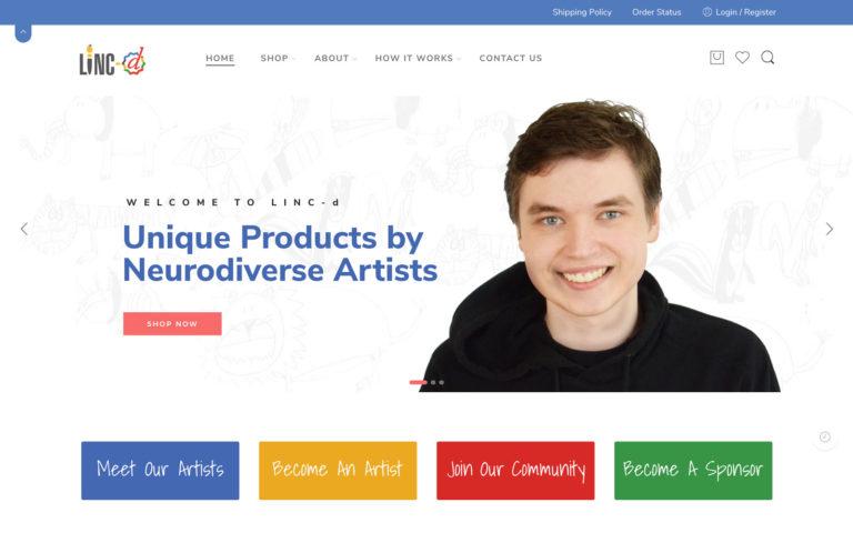 Linc-d Ecommerce Website