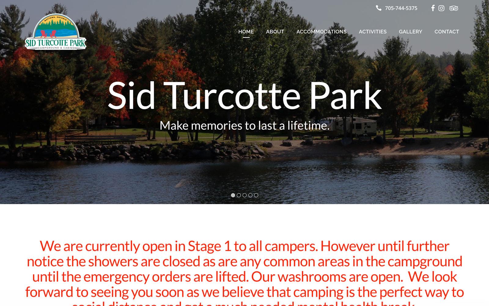 Sid Turcotte Park Website