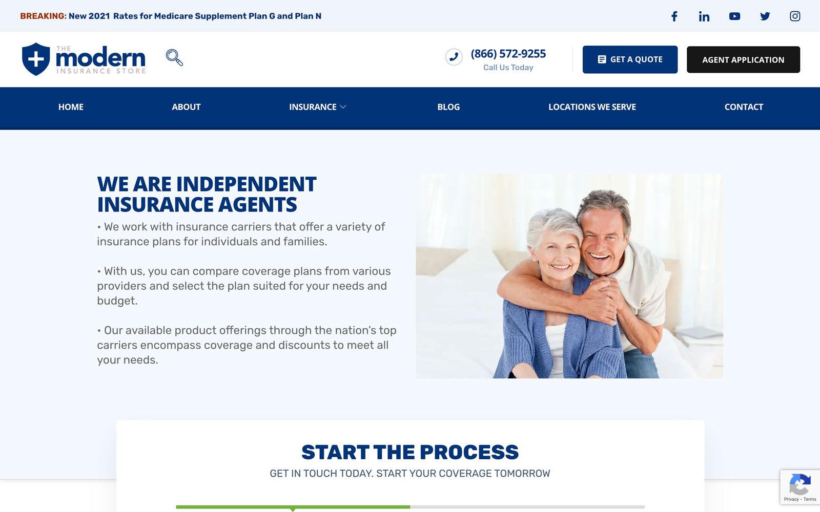 Modern Insurance Website