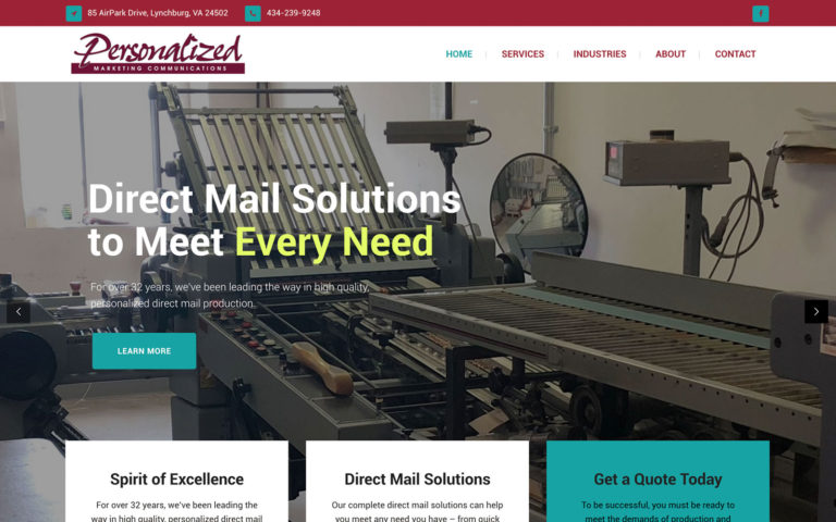 PMC Direct Mail Website
