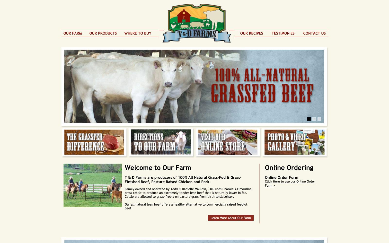 T&D Farms Website