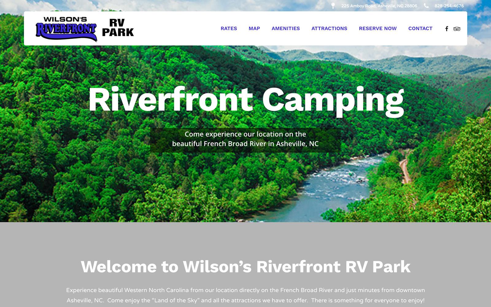 Wilson's RV Park Website