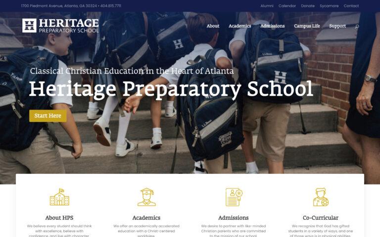 Heritage Preparatory School Website