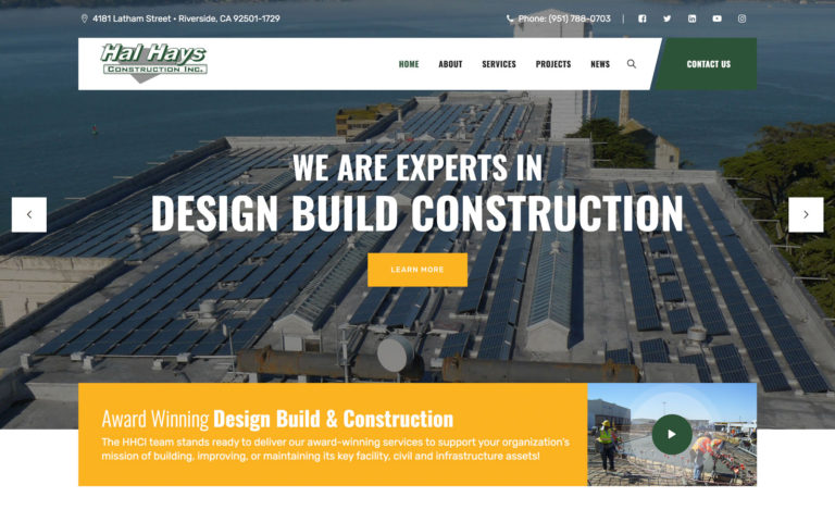 Hal Hays Construction Website